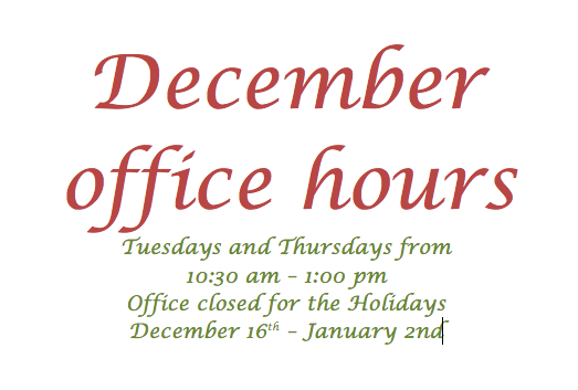 December Office Hours
